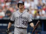 May 24  2014  Colorado Rockies vs Atlanta Braves - Justin Morneau