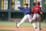 Jun 4  2014  Arizona Diamondbacks vs Colorado Rockies - Gerardo Parra  Justin Morneau