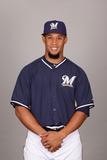 2014 Milwaukee Brewers Photo Day: Feb 23 - Carlos Gomez
