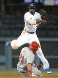 May 28  2014  Cincinnati Reds vs Los Angeles Dodgers - Dee Gordon  Brayan Pena