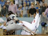 Jul 1  2014  Cleveland Indians vs Los Angeles Dodgers - Dee Gordon  Yan Gomes