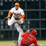 Apr 5  2014  Los Angeles Angels of Anaheim vs Houston Astros - Mike Trout  Jose Altuve
