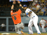 May 12  2014  Miami Marlins vs Los Angeles Dodgers - Casey McGehee  Hanley Ramirez