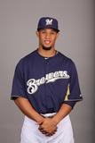 Milwaukee Brewers Photo Day: Feb 17  2013 - Carlos Gomez