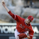 May 3  2014  Texas Rangers vs Los Angeles Angels of Anaheim - Garrett Richards