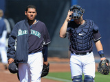 Mar 9  2014  Texas Rangers vs Seattle Mariners - Felix Hernandez  Mike Zunino