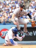 Apr 27  2014  Colorado Rockies vs Los Angeles Dodgers - Troy Tulowitzki  Yasiel Puig