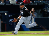 Apr 22  2014  Miami Marlins vs Atlanta Braves - Casey McGehee