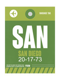 SAN San Diego Luggage Tag 2