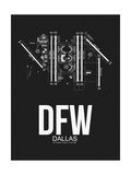 DFW Dallas Airport Black