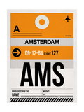AMS Amsterdam Luggage Tag 2