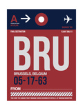 BRU Brussels Luggage Tag 2