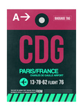 CDG Paris Luggage Tag 1