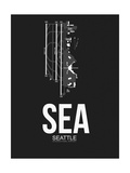 SEA Seattle Airport Black