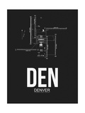 DEN Denver Airport Black