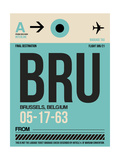 BRU Brussels Luggage Tag 1