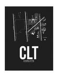 CLT Charlotte Airport Black