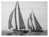 Sailboats Race during Yacht Club Cruise