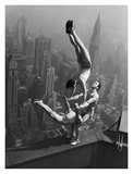 Acrobats Performing on the Empire State Building  1934