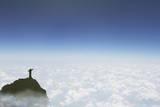 Statue of Christ the Redeemer Above the Clouds  Corcovado  Rio De Janeiro  Brazil  South America