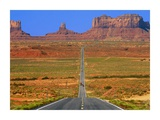 Highway Leading to Monument Valley  USA