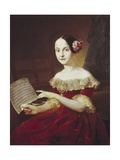 Maria Luisa  Infanta of Spain with Musical Score by Franz Schubert