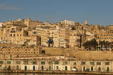 View of the Old Town from the Grand Harbour in the Golden Early Morning  Valletta  Malta  Europe
