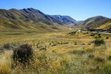 Beautiful Scenery on the Highway around the Lindis Pass  Otago  South Island  New Zealand  Pacific