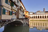 Ponte Vecchio Is an Old Medieval Bridge in the Historic Centre of Florence Spanning the River Arno