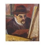 Utrillo in Front of His Easel