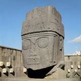 Sculpted Head  of Tihuanaco Culture