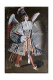 Osiel Dei  Angel 'Arcabucero'  in Military Clothing with and Shield