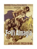 Art Nouveau Advertising Poster for 'Zolfi Almaglia'