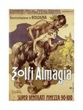 Art Nouveau Advertising Poster for 'Zolfi Almaglia'