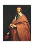 Portrait of Armand-Jean Du Plessis  Cardinal Richelieu