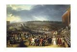 Fete De La Federation  Champs De Mars  Paris  July 14  1790