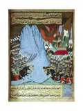 The Qu'Ran Is Revealed to Muhammad by Angel Gabriel During a Battle