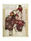 Program of the Russian Ballets Company Reproduction d'art par Leon Bakst