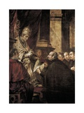 Saint Ignatius of Loyola Receiving Papal Bull from Pope Paul III