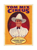 Tom Mix on 1937 Poster Art Promoting the Tom Mix Circus