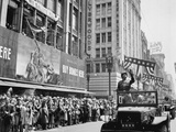 General George Patton Receives the Crowd's Cheers in Los Angeles