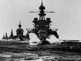 Battleship USS Pennsylvania Is Followed by Three Cruisers