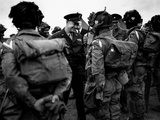 General Eisenhower Talks with Paratroopers of the 101st US Airborne Before D-Day
