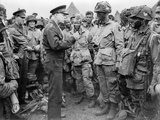 General Dwight Eisenhower Talked to Paratroopers on the Evening of June 5