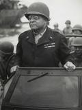 Gen Benjamin O Davis Watches a Signal Corps Crew Erecting Poles