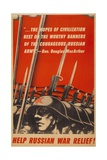 Help Russian War Relief! American World War 2 Poster Depicting Soviet Soldiers