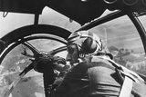 German Machine Gunner in an Airplane During First Days of World War 2 in Poland
