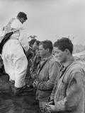 US Marines and a Chaplain Celebrate Catholic Communion During the Battle of Iwo Jima