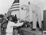 African American Airman Receiving a Military Award at Tuskegee Army Air Field