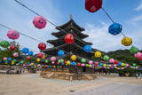 Colourful Lanterns in the Beopjusa Temple Complex  South Korea  Asia